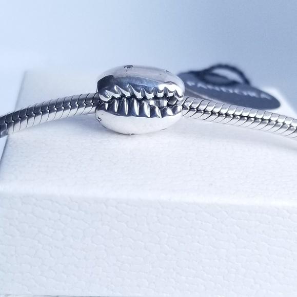 Pandora Jewelry - Pandora Sparkling Coffee Bean Shell Charm Silver